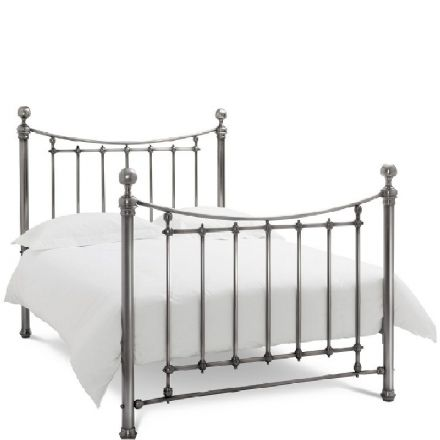 Isabelle Antique Nickel King-Sized Bedstead